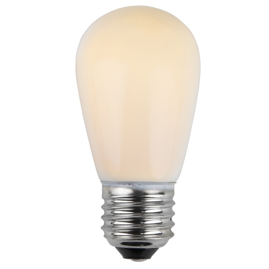 S14 Opaque White, 11 Watt Replacement Bulbs