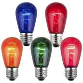 S14 Transparent Multicolor, 11 Watt Replacement Bulbs