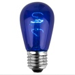S14 Triple Dipped Transparent Blue, 11 Watt Replacement Bulbs