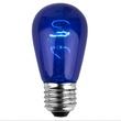 S14 Triple Dipped Transparent Blue, 11 Watt Replacement Bulbs