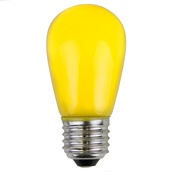 S14 Opaque Yellow, 11 Watt Replacement Bulbs