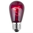 S14 Triple Dipped Transparent Purple, 11 Watt Replacement Bulbs