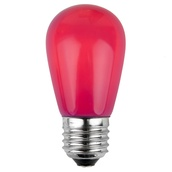 S14 Opaque Pink, 11 Watt Replacement Bulbs