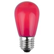 S14 Opaque Pink, 11 Watt Replacement Bulbs