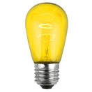 S14 Triple Dipped Transparent Yellow, 11 Watt Replacement Bulbs