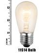 S14 Transparent Clear, 11 Watt Replacement Bulbs