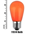 S14 Opaque Orange, 11 Watt Replacement Bulbs