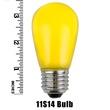 S14 Opaque Yellow, 11 Watt Replacement Bulbs