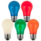 A15 Opaque Multicolor, 15 Watt Replacement Bulbs