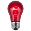A15 Transparent Red, 15 Watt Replacement Bulbs