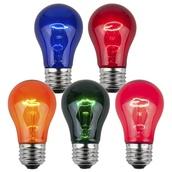 A15 Transparent Multicolor, 15 Watt Replacement Bulbs