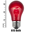 A15 Transparent Multicolor, 15 Watt Replacement Bulbs