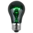 A15 Transparent Green, 15 Watt Replacement Bulbs