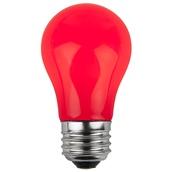 A15 Opaque Red, 15 Watt Replacement Bulbs