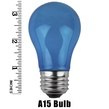 A15 Opaque Blue, 15 Watt Replacement Bulbs