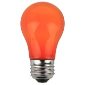 A15 Opaque Orange, 15 Watt Replacement Bulbs