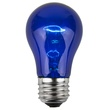 A15 Transparent Blue, 15 Watt Replacement Bulbs