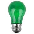 A15 Opaque Green, 15 Watt Replacement Bulbs