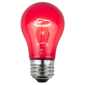 A15 Transparent Pink, 15 Watt Replacement Bulbs