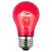 A15 Transparent Pink, 15 Watt Replacement Bulbs