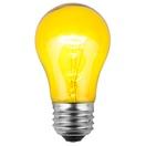 A15 Transparent Yellow, 15 Watt Replacement Bulbs