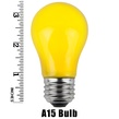 A15 Opaque Yellow, 15 Watt Replacement Bulbs