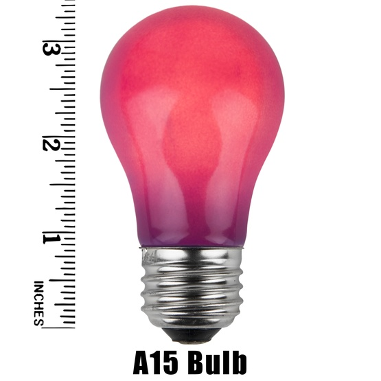 A15 Opaque Purple, 15 Watt Replacement Bulbs