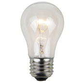 A15 Transparent Clear, 15 Watt Replacement Bulbs