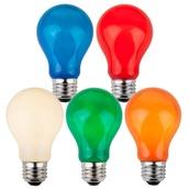 A19 Opaque Multicolor, 25 Watt Replacement Bulbs