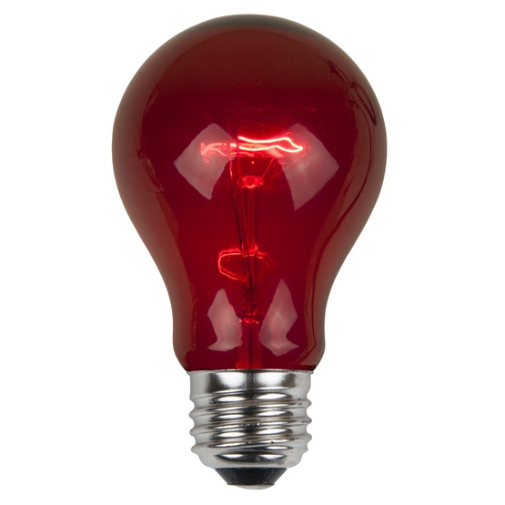 A19 Transparent Red, 25 Watt Replacement Bulbs