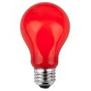 A19 Opaque Red, 25 Watt Replacement Bulbs