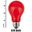A19 Opaque Red, 25 Watt Replacement Bulbs