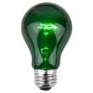 A19 Transparent Green, 25 Watt Replacement Bulbs