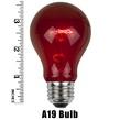 A19 Transparent Multicolor, 25 Watt Replacement Bulbs