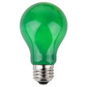 A19 Opaque Green, 25 Watt Replacement Bulbs