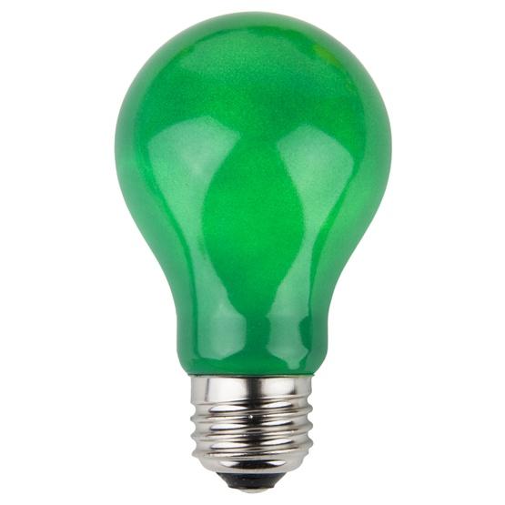 A19 Opaque Green, 25 Watt Replacement Bulbs