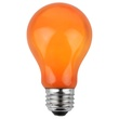 A19 Opaque Orange, 25 Watt Replacement Bulbs