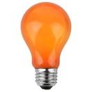 A19 Opaque Orange, 25 Watt Replacement Bulbs