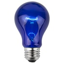A19 Transparent Blue, 25 Watt Replacement Bulbs
