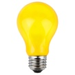A19 Opaque Yellow, 25 Watt Replacement Bulbs