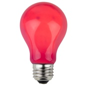A19 Opaque Pink, 25 Watt Replacement Bulbs