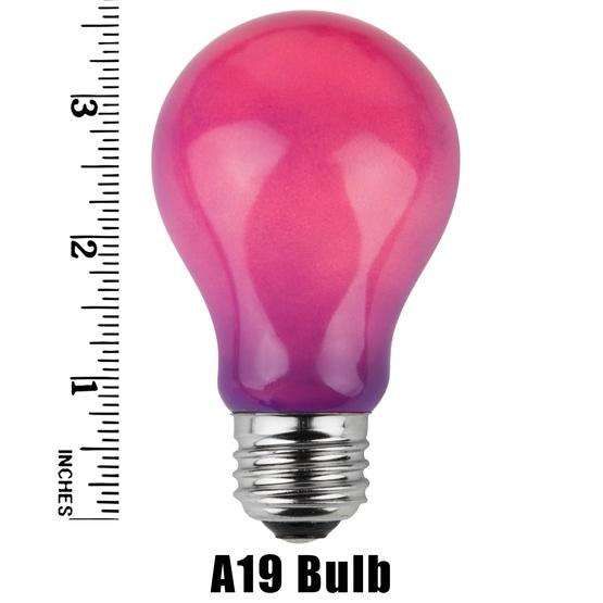A19 Opaque Purple, 25 Watt Replacement Bulbs