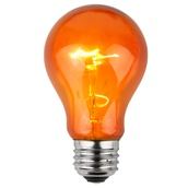 A19 Triple Dipped Transparent Amber / Orange, 25 Watt Replacement Bulbs