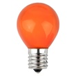 S11 Opaque Orange, 10 Watt Replacement Bulbs