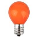 S11 Opaque Orange, 10 Watt Replacement Bulbs