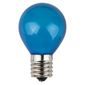S11 Opaque Blue, 10 Watt Replacement Bulbs