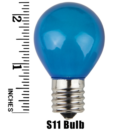 S11 Opaque Blue, 10 Watt Replacement Bulbs