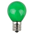 S11 Opaque Green, 10 Watt Replacement Bulbs