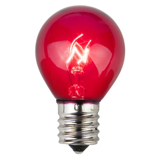 S11 Transparent Purple, 10 Watt Replacement Bulbs