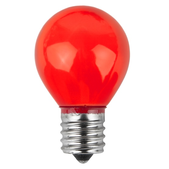 S11 Opaque Red, 10 Watt Replacement Bulbs